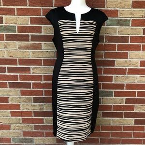 ☀️ dressbarn Bodycon Striped Dress